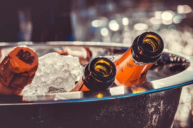 champagne au nouvel an