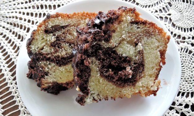 Recette de gâteau marbré au citron et chocolat