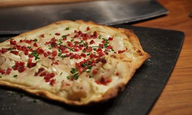 Pizza alsacienne (façon flammekueche)
