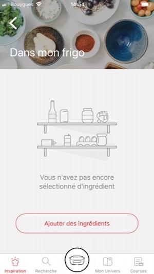 App recettes pour la machine à gâteaux tefal