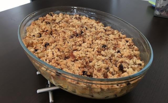 recette crumble poires ou abricots