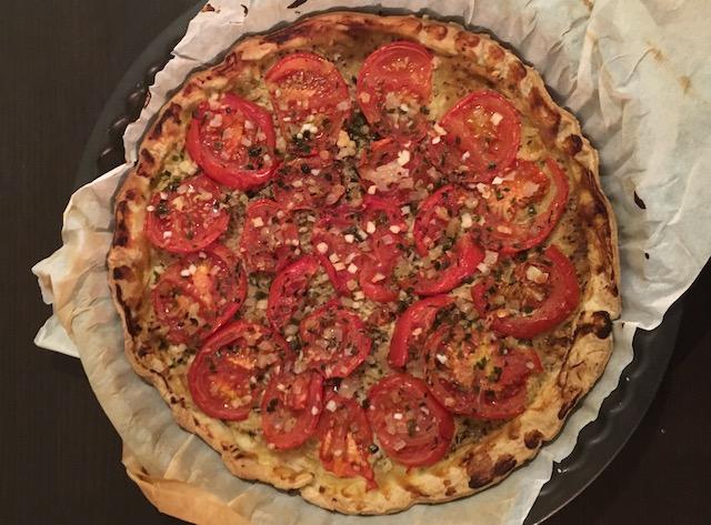 Recette tarte tomate et moutarde