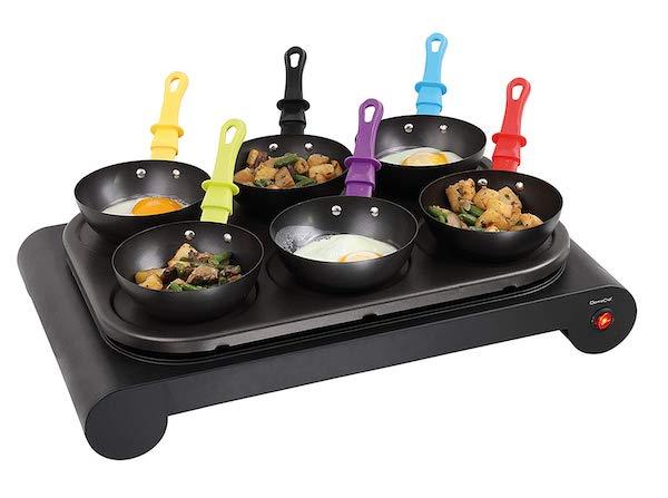 Les mini-woks de la crêpière Domoclip DOM200