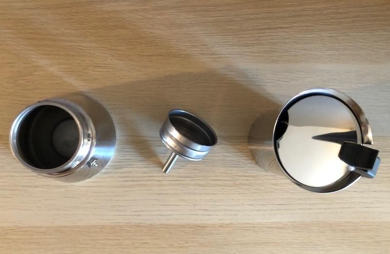 Les 3 éléments qui composent la machine à café Bialetti Venus