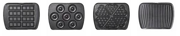Les différentes plaques disponibles avec le gaufrier Lagrange premium