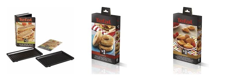 Un aperçu des plaques disponibles pour le Snack Collection de Tefal