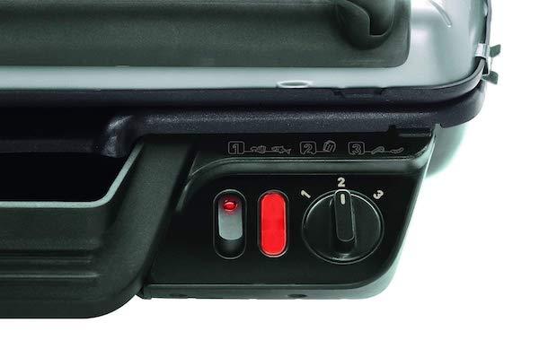 Ce modèle dispose d'un thermostat réglable avec bouton marche et arrêt