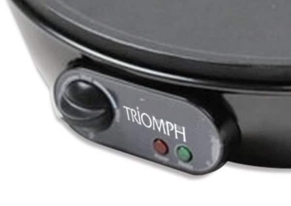 Le thermostat réglable de la crêpière électrique Triomph ETF1503