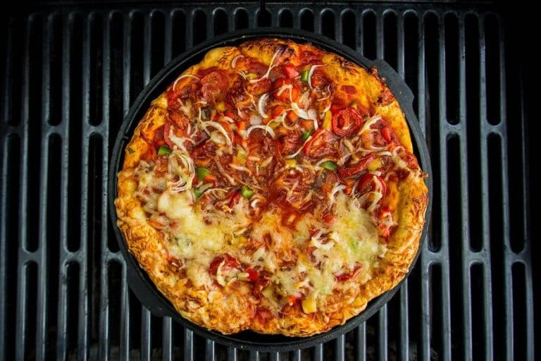 Cuisson pizza au barbecue