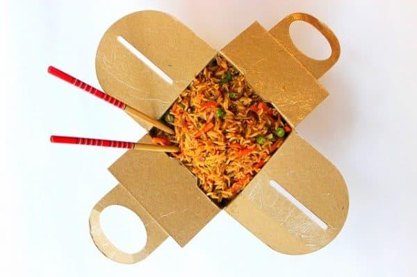 Box repas à emporter en carton recyclable