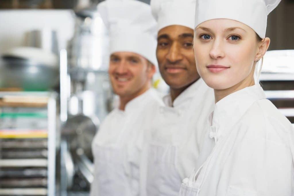 3 chefs cuisiniers