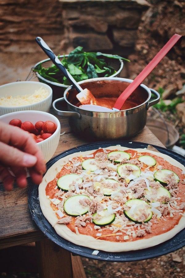 Pizza et sauce tomate maison