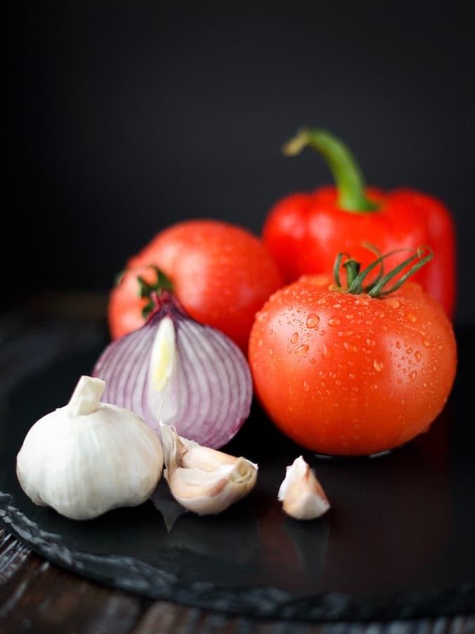 Ingrédients pour une sauce tomate pizza